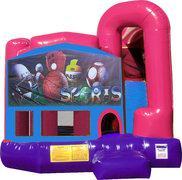 Big Sports 4N1 Inflatable Combo Fun Jump (Pink)