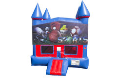 Big Sports Bounce House With Basketball Goal
