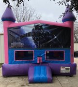 Black Panther Fun Jump (Pink) With Basketball Goal