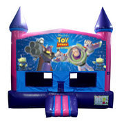 Toy Story Bounce House (Pink) with Basketball Goal