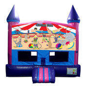 Circus Fun Jump (Pink) with Basketball Goal