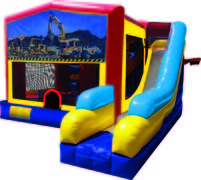 Construction 7N1 Inflatable Combo Fun Jump