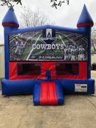Dallas Cowboys Bounce House with Basketball Goal