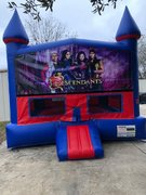 Disney Descendants Bounce House With Basketball Goal