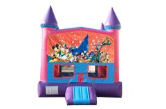 Disney Characters Fun Jump (Pink) with Basketball Goal