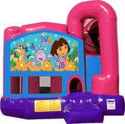 Dora the Explorer 4N1 Bounce House Combo (Pink)