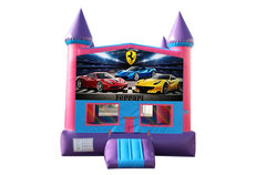 Ferrari Fun Jump (Pink) with Basketball Goal