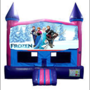 Frozen Bounce House (Pink) with Basketball Goal