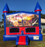 Goosebumps Bounce House With Basketball Goal