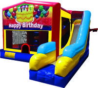 Happy Birthday Cake 7N1 Inflatable Combo Fun Jump
