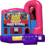 Happy Birthday Cake 4N1 Bounce House Combo (Pink)