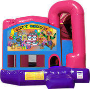 Happy Birthday 4N1 Inflatable Combo Fun Jump (Pink)