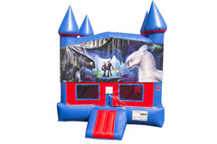 How to Train Your Dragon Bounce House With Basketball Goal