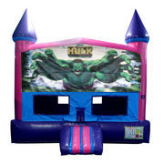 Incredible Hulk Fun Jump (Pink) with Basketball Goal