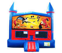 Incredibles Bounce House with Basketball Goal