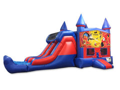 Incredibles 7' Double Lane Dry Slide Bounce House Combo