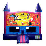 Incredibles Bounce House (Pink) with Basketball Goal