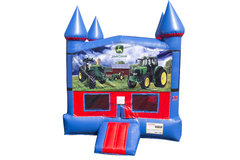 John Deere Bounce House with Basketball Goal