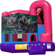 Jurassic World 4N1 Bounce House Combo (Pink)