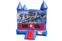 Justice League Bounce House with Basketball Goal