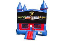 Lamborghini Bounce House With Basketball Goal