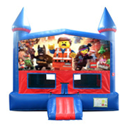 Legos Bounce House (Pink) with Basketball Goal