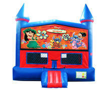 Lilo and Stitch Bounce House with Basketball Goal