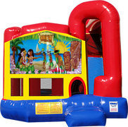 Hawaiian Luau 4N1 Inflatable Combo Fun Jump