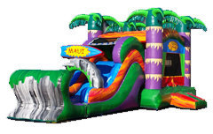 A Maui Bounce House Water Slide With Pool