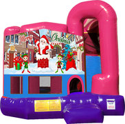Merry Christmas 4N1 Bounce House Combo (Pink)