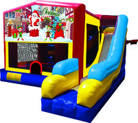 Merry Christmas 7N1 Inflatable Combo Fun Jump