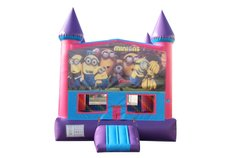 Minions Fun Jump (Pink) with Basketball Goal