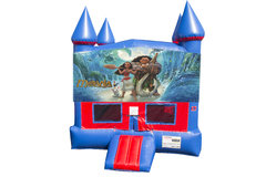 Moana Bounce House With Basketball Goal