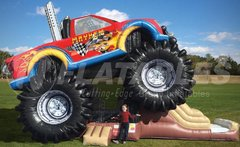 Monster Truck Mayhem Inflatable Combo Bouncer