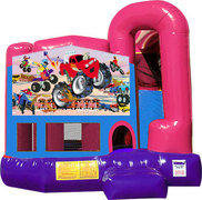 Monster Truck 4N1 Inflatable Combo Fun Jump (Pink)