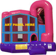 A 4N1 Inflatable Combo Fun Jump (Pink)