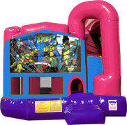 Ninja Turtles 4N1 Inflatable Combo Fun Jump (Pink)