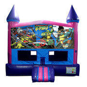 Ninja Turtles Bounce House (Pink) with Basketball Goal