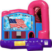 United We Stand 4N1 Inflatable Combo Fun Jump (Pink)