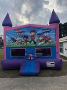 Paw Patrol Fun Jump (Pink) With Basketball Goal