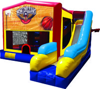 Pelicans Basketball 7N1 Inflatable Combo Fun Jump