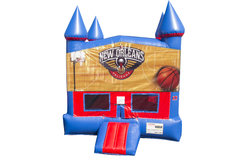 Pelicans Basketball Bounce House With Basketball Goal