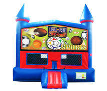 Sports Bounce House with Basketball Goal