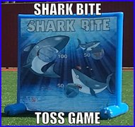Shark Bite Ball Toss Game