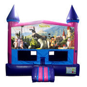 Shrek Bounce House (Pink) with Basketball Goal