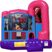 Spiderman 4N1 Inflatable Combo Fun Jump (Pink)