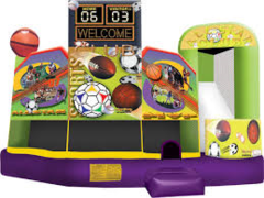 A  Sports 5-in-1 Inflatable Fun Jump