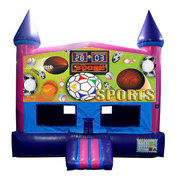 Sports Bounce House (Pink) with Basketball Goal