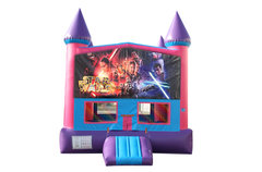 Star Wars Fun Jump With Basketball Goal (Pink)