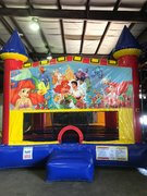 The Little Mermaid Bounce House With Basketball Goal